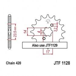 Piñon JTF1128 de acero con...