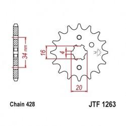Piñon JTF1263 de acero con...