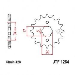 Piñon JTF1264 de acero con...