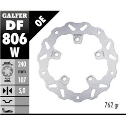 DISCO DE FRENO TRASERO GALFER DF806W