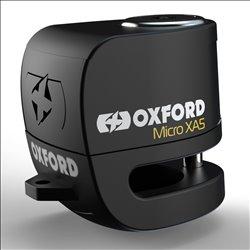 Candado de disco c/alarma Oxford Micro XA5 5,5 mm