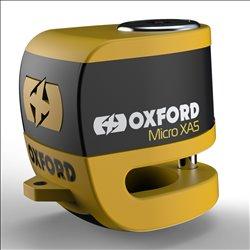 Candado de disco c/alarma Oxford Micro XA5 5,5 mm Amarillo
