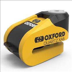 Candado de disco c/alarma Oxford Quartz XA6 Amarillo/Negro