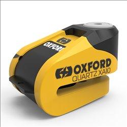 Candado de disco c/alarma Oxford Quartz XA10 Amarillo/Negro