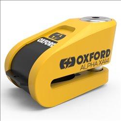 Candado de disco c/alarma Oxford Alpha XA14 Amarillo/Negro