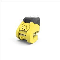 Candado de disco Oxford Scoot XD5 (pin de 5 mm) Amarillo/Negro